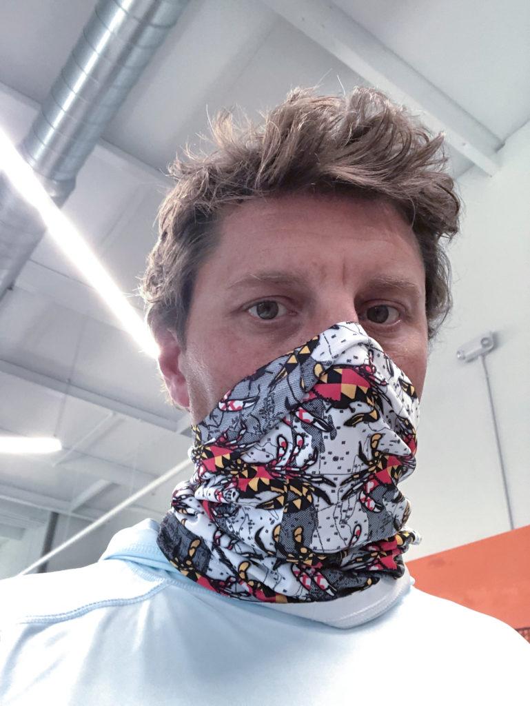 Dye Sublimated Neck Gaiter mask option